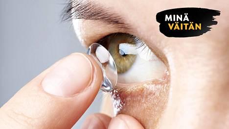 Piilolinssin alla silmä saattaa olla tulehtunut.