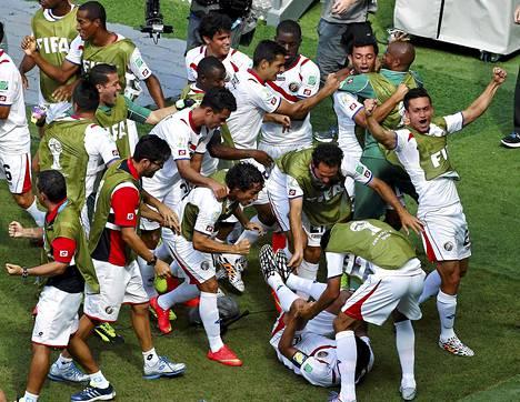 Italian kukistanut Costa Rica todisti, että arvokkain ei ole aina paras.