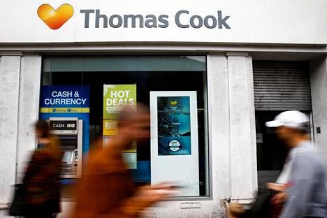 Maailman vanhin matkanjärjestäjä Thomas Cook ajautui konkurssiin syyskuussa.