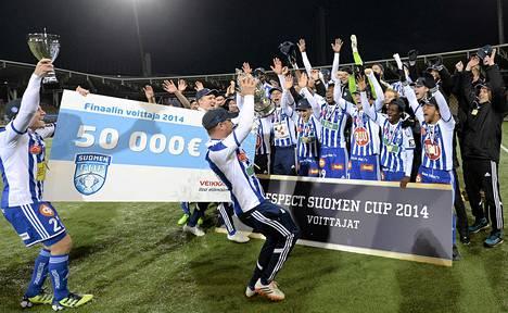 HJK tuuletti viime kaudella myös Suomen cupin mestaruutta.