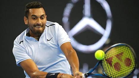 """Nick Kyrgios sunnuntaina Pekingin ATP-Turnauksen finaalissa kun kaikki oli vielä """"hyvin"""""""