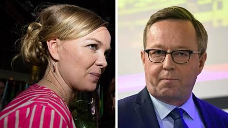 Katri Kulmuni ja Mika Lintilä keskustelivat sunnuntaina ministereiden työnjaosta.