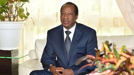 Burkina Fason entinen presidentti Blaise Compaore lokakuussa 2014.