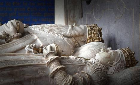 Kustaa Vaasan hauta Uppsalan tuomiokirkossa.