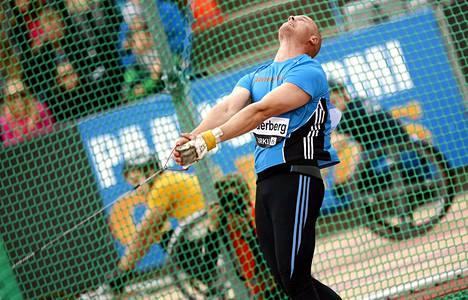 David Söderberg heitti kotimaisen kärkituloksen keskiviikkona Paavo Nurmi Gamesissä.