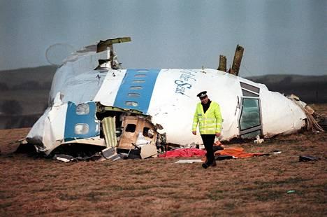Pan Amin matkustakone räjähti Skotlannissa sijaitsevan Lockerbien yllä vuonna 1988.