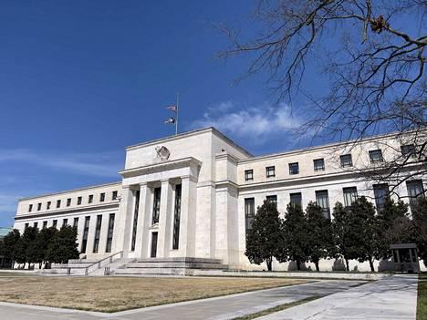 Yhdysvaltain keskuspankin New Yorkin -konttorin johtaja John Williams arvioi, että maan talouden kasvuvauhti on tänä vuonna nopeampaa kuin kertaakaan 1980-luvun alkupuolen jälkeen. Kuvassa Fedin konttori Washingtonissa.
