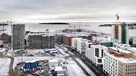 Hitas-asuntoja on rakennettu viime vuosina muun muassa Helsingin Jätkäsaareen.