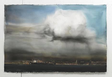 Lars Lerin: Molnet (Pilvi), akvarelli, 2014.