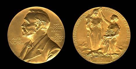Nobelin kemian palkinnon mitali.