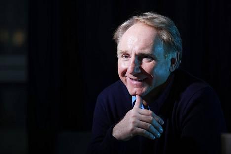 Kirjailija Dan Brown vieraili Helsingin kirjamessuilla 2017.