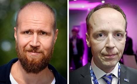 Touko Aalto ja Jussi Halla-Aho.