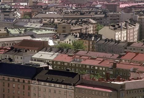 Kattonäkymä Helsingin keskusta-alueella.