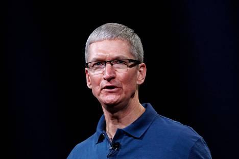 Applen toimitusjohtaja Tim Cook iloitsi torstaina osavuosikatsauksessa hyvästä tuloksesta.