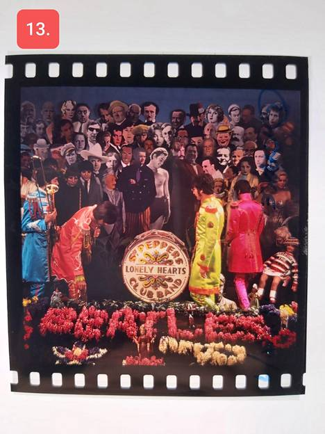Among the slides to be auctioned are shots described in the 1967 Sgt.  For Pepper's Lonely Hearts Club Band.