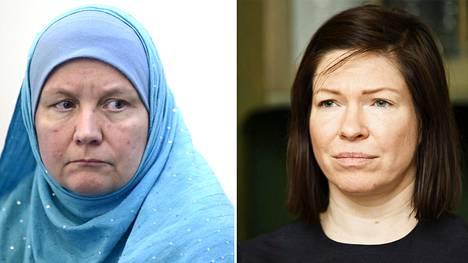 Pia Jardi (vas.) on tehnyt työtä suurmoskeijahankkeen eteen. Hankkeen jarruksi ryhtyi vihreä apulaispormestari ja lautakunnan puheenjohtaja Anni Sinnemäki.