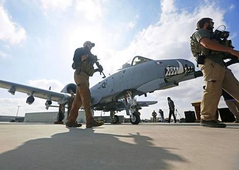 Amerikkalaisjoukkoja Kandaharin lentotukikohdassa Afganistanissa 23. tammikuuta.