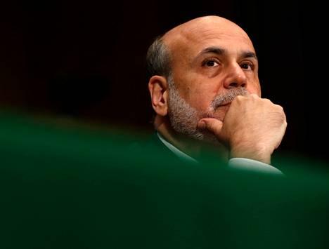 Yhdysvaltain keskuspankin pääjohtaja Ben Bernanke puhui Yhdysvaltain kongressissa torstaina.