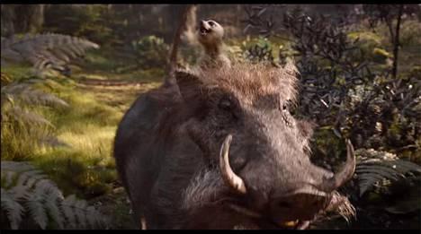 Timon ja Pumba uudessa Leijonakuningas-elokuvassa.