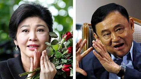 Yingluck Shinawatra ja Thaksin Shinawatra