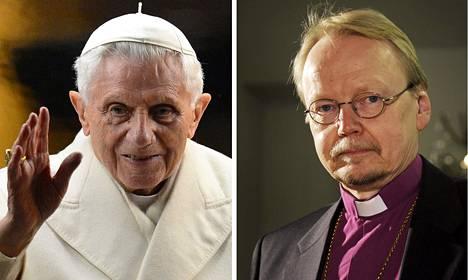 Paavi Benedictus XVI ja arkkipiispa Kari Mäkinen