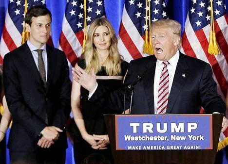 Ivanka Trumpin aviomies ja appiukkonsa luottomies Jared Kushner, jonka nimitys Valkoiseen taloon koettelee lain rajoja.