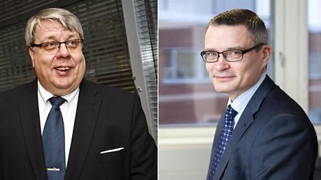 Antti Vehviläinen (vas.) siirtyy erityistehtäviin Viestintävirastoon, Kari Wihlmanista tulee Liikenneviraston pääjohtaja.