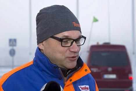 Pääministeri Juha Sipilä antoi haastatteluja Terrafamen kaivoksella Sotkamossa 14. marraskuuta 2016.