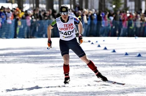 Krista Pärmäkoski otti viikko sitten Äänekoskalle kolme Suomen mestaruutta.