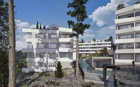 Kurkimoision talot rakennettaisiin osaksi rinnemaastoa.
