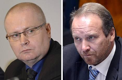 Jari Lindström (vas.) ja Teuvo Hakkarainen