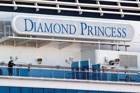 Diamond Princess -alus Jokohaman satamassa torstaina.