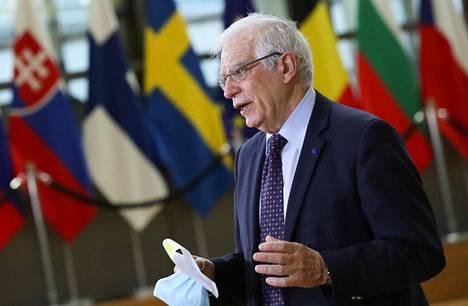 EU:n ulkopoliittinen korkea edustaja Josep Borrell osallistui maanantaina EU-maiden ulkoministerien kokoukseen Brysselissä.