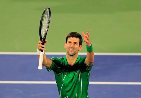 Novak Djokovic juhli voittoa Dubain mestaruusturnauksessa.