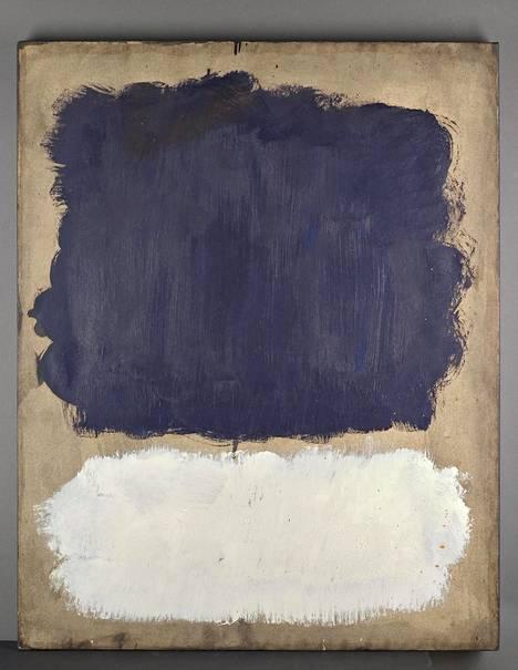 Mark Rothko: Grey, White, Purple (1960), öljy kankaalle.