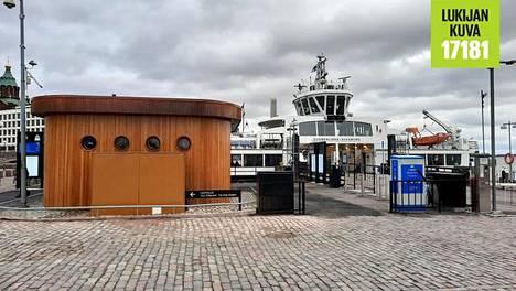Suomenlinnan lautan peruskorjattu terminaali Eteläsatamassa Helsingissä.