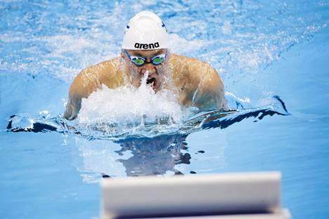 Matti Mattson Rion olympialaisissa 2016. Hän oli tuolloin 200 metrin rintauinnin 16:s.
