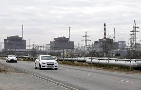 Zaporizkan ydinvoimala sijaitsee Enerhodarin kaupungissa. Kuva viime vuoden huhtikuulta.