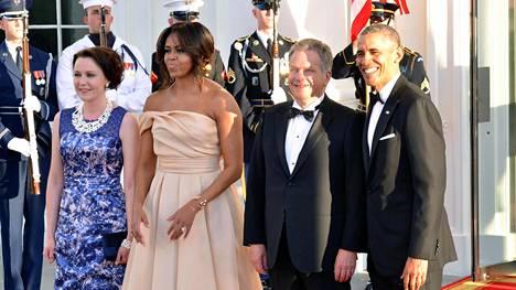 Presidentti Sauli Niinistö ja rouva Jenni Haukio olivat Valkoisessa talossa presidentti Barack Obaman vieraina toukokuussa 2016.