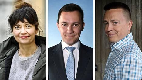 Kirsi Piha, Wille Rydman ja Atte Kaleva.