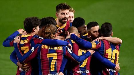 Barcelona juhli cupin finaalipaikkaa keskiviikkona.