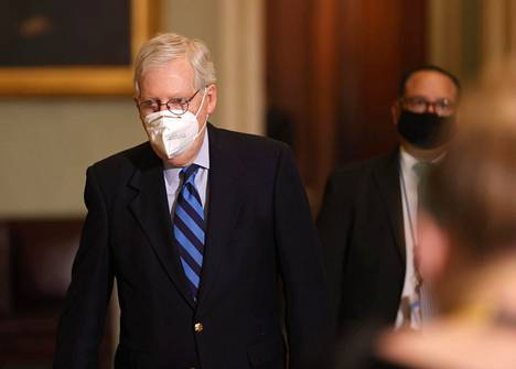 Senaatin republikaanijohtaja Mitch McConnell.