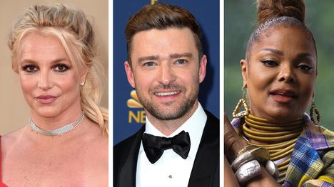 Britney Spears, Justin Timberlake ja Janet Jackson.