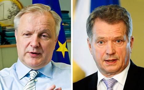 Olli Rehn ja Sauli Niinistö