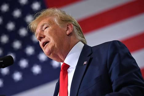 Presidentti Donald Trump puhui Milwaukeessa 12. heinäkuuta.