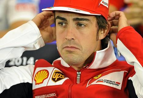 Ferrarin Fernando Alonso on kuljettajien MM-pisteittä tällä hetkellä neljäntenä.