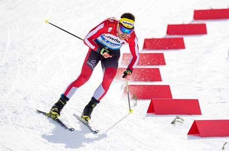 Itävaltalaishiihtäjä Dominik Baldauf on yksi Seefeldin MM-kisojen dopingskandaalin epäillyistä.