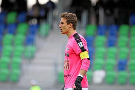 Antonio Reguero palkittiin viime Veikkausliiga-kauden parhaana maalivahtina.