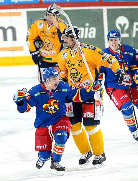 Jokerien Teemu Pulkkinen osui kahdesti Lukkoa vastaan ja teki uransa ensimmäiset pudotuspelimaalinsa.