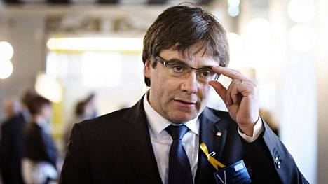 Katalonian entinen johtaja Carles Puigdemont vieraili torstaina eduskunnassa.